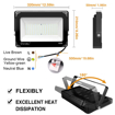 Picture of 2 Pack 100W LED Flood Light, 10000lm 5000K Daylight White