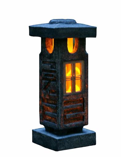 Picture of 51CM height Japanese style lantern Solar garden lamp Solar pagoda light