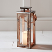 Picture of Large Wooden Battery Operated LED Candle Lantern 34cm with Rope Handle