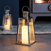 Picture of Large Stainless Steel Battery Operated LED Candle Lantern 28cm