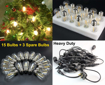 Picture of Outdoor String Lights LED, 48ft Heavy Duty Commercial Grade IP65 Waterproof String Lights,15 E27 Sockets, 18 LED Bulbs (2W Warm White),Weatherproof Garden lights for Patio,Backyard,Cafe,Wedding