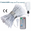 Picture of LED Curtain Lights Window Curtain Fairy Lights 306 LEDs 3m x 3m Indoor Warm White Icicle String Lights with Remote for Wedding Xmas Christmas Outdoor Party Decorations