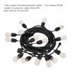 Picture of Outdoor String Light Kit, 49.9Ft Waterproof Heavy Duty Commercial String Lights,E27 Base Garden Lights for Patio, Homes, Backyard,Wedding,Cafe(15 Sockets,Include 15+2 Spare Bulbs)