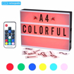 Picture of Cinematic A4 Lightbox Rechargeable Wireless Light Box with 189 Letters/Numbers,1200mah Battery,7 Colour Changing with Remote Control,Freestanding or Wall Mounted