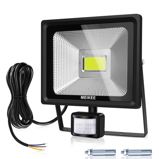 Picture of Security Lights with Motion Sensor, 50W LED Floodlights, Waterproof IP66 LED Sensor Outdoor Light, High Output 5000LM PIR Flood Light, 150W HPS Light Equivalent Replaced, Daylight White