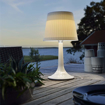 Picture of LED Solar Table Lamp White Plastic Night Lights Suitable for Garden Tables,Outdoor Dinning,Bedroom Decoration (White) [Energy Class A+++]