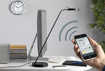 Picture of LED Eye Light iOS and Android App-Enabled Home Office Desk Lamp, 6 W, Metal Grey