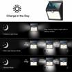 Picture of 46 LED Solar Lights Outdoor Solar Security Lights Motion Sensor 1800mAh, Pack of 4, Black
