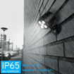 Picture of Waterproof Battery Motion Sensor Lights, 600 Lumens Wireless LED Security Wall Spotlight for Driveways, Gardon, Yard, Walkways and Stairs [Energy Class A+]