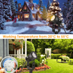Picture of Garden Lights Plug in, 12v Pathway Lighting Waterproof Spike Lights Rotatable LED Spotlight Security Lights for Driveway Tree Lawn Bush Sculpture Pool Yard Fence Patio Wall (Pack of 4)