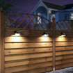 Picture of Solar Fence Post Lights Outdoor Waterproof RGB Colourful Decorative Wall Lights Easy Installation Dark Sensing
