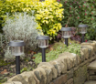 Picture of Ultra-Bright 6 Lumen Solar Garden Lights - Perfect Neutral Design; Makes Garden Pathways & Flower Beds Look Great; Easy NO-WIRE Installation; All-Weather/Water-Resistant!