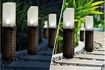 Picture of Rattan Effect Led Solar Post Lights, Extra Large 4 Piece Pack