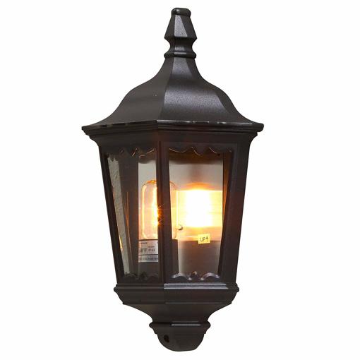Picture of 7229-750 Firenze Flush Outdoor Wall Light / 1 x 100 W E27 Max Wall Lamp / Clear Glass Panels / Aluminium / IP43 / Matt Black