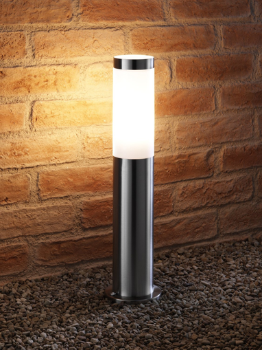 Picture of IP44 Stainless Steel Outdoor Garden Path Post Light - 5w Warm White LED Light Bulb Included [Energy Class A+]