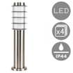 Picture of 4 x Modern Outdoor Stainless Steel Bollard Lantern Light Post - 450mm