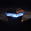 Picture of NEW 4 X SOLAR OUTDOOR DECKING POST LED POWERED LIGHT GARDEN DECK CAP SQUARE FENCE LAMP
