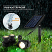 Picture of Solar Pond Lights,Submersible pond Light with 3 Lamps 18 LEDs Landscape Spotlight Underwater Lights IP68 Waterproof Amphibious Lighting Light Sensor High Brightness for Pond,Garden,Outdoor(Warm White)