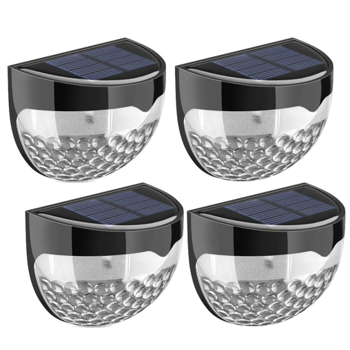 Picture of Solar Fence Lights, Decorative Lights 6 LED Garden Lights, Waterproof Solar Lights Wireless Outdoor Lights for Patio, Fence, Yard, Garden, Garage, Stairway, Gate, Wall (Pack of 4)