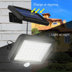 Picture of Solar Security Lights, 56 LED Solar Wall Lamp Human/Light Sensor Waterproof Super Bright Lights for Garden, Fence, Door, Yard or Entrance Use [Energy Class A+++]