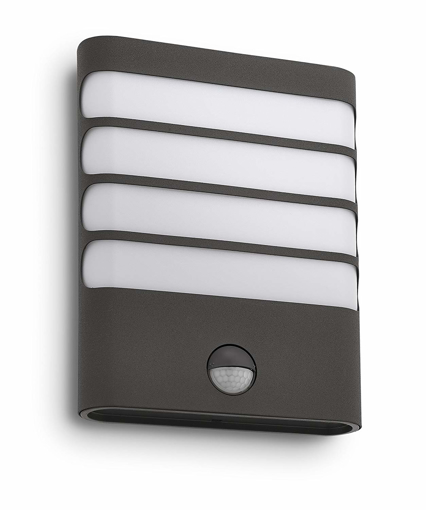 Picture of myGarden Raccoon LED Wall Light with Motion Sensor, 3.5 W Integrated LED - Anthracite