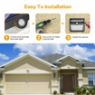 Picture of Solar Lights Outdoor, Upgraded [ 2 Pack ] 60 LED Solar Powered Lights 270º Wide Angle Lighting 180° Sensor LED Wireless Waterproof Solar Security Lights Solar Wall Lights 3 Modes for Garden