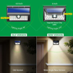 Picture of Solar Lights Outdoor, 24 LEDs Waterproof Security Light,Solar Powered Motion Sensor Outdoor Wall Lights, Wide Angle Design Wireless Light for Garden, Patio, Deck, Yard, Driveway
