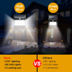 Picture of Solar Lights Outdoor, 82 LED Solar Motion Sensor Security Lights 2000mAh Solar Powered Lights Waterproof Solar Wall Lights 270º Wide Angle and 180° Sensor LED with 3 Modes for Garden [2 Pack]