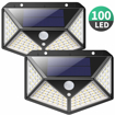Picture of Solar Lights Outdoor,【270º Four-Angle Lighting-2 Pack】100 LED Solar Security Light with Motion Sensor Solar Waterproof Wall Light Solar Powered Light with 3 Modes for Garden,Outside
