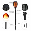 Picture of Solar Torch Light Upgraded-42.9 inches Flickering Flames Torches Lights-Waterproof Solar Lights Outdoor Landscape Decoration Lighting Dusk to Dawn 2 Pack