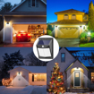 Picture of [Upgraded 50 LED] Solar Lights Outdoor, Solar Security Lights Solar 150° Wide Angle Lighting Solar Motion Sensor Lights Wireless Waterproof Outdoor Lights for Garden Fence Patio Garage (4 Pack)