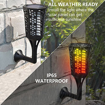 Picture of Solar Torch Lights,96LED 1900-2000K 35LM IP65 Waterproof Flickering Dancing Flame Solar Garden Lights Outdoor Landscape Lighting, Auto On/Off Solar Christmas Gadge Path Lights