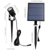 Picture of 2W Solar Spotlights, IP65 Waterproof 9.8ft Cable Lenght 270° Angle Adjustable Auto On/Off with 2 Warm White Dual Spot Headlamp Garden Lamp Landscape Lamp for Tree,Patio, Yard, Garden.