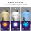 Picture of B22 RGB Alexa Light Bulbs, LED Colour WiFi Smart Bulb Bayonet, Work with Google Home, IFTTT, Dimmable Timing RGBCW Tunable White (2700-6500K) 7W, Remote Controlled, 3 Pack (No Hub Required) [Energy Class A+]