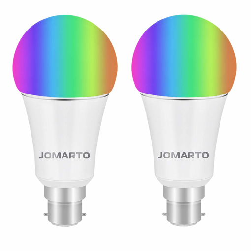 Picture of WiFi Smart Bulb, B22 Bayonet 9W Smart Led Bulb Compatible with Alexa, Google Home and IFTTT, Dimmable RGB Smart Light Bulb, No Hub Required, 60W Equivalent Remote Controlled 2 Pack