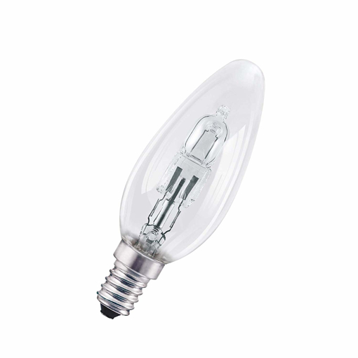 Picture of Halogen Lamp E14 Dimmable Classic B/20 W - 25 W Replacement 2700 K, Candle Shaped Halogen Bulb/Clear, Warm White, Set of 5 [Energy Class D]