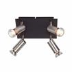 Picture of Nubia G14835/76 Spotlights 4 x 42 W Halogen Bulbs Metal Includes GU10 Bulbs Black/Chrome [Energy Class D]