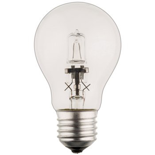 Picture of Halogen Bulb lamp classic GLS E27 53W 850 Lumen 2800K [Warm White] - Pack of 25