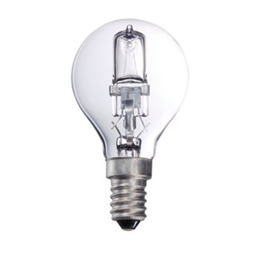 Picture of Halogen Bulb lamp ball E14 28w 370 Lumen 2800K [Warm White, 40w Equivalent, Dimmable, 2000 Hours] - Pack of 25