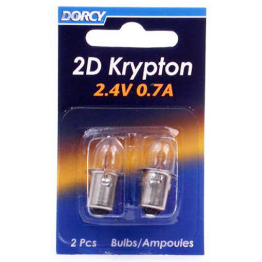 Picture of 2D-2.4-Volt, 0.7A Bayonet Base Krypton Replacement Bulb, 2-Pack (41-1660)