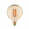 Picture of G125 6W Edison LED Filament Light Bulb - Super Warm White 2200K 600LM - 60W Incandescent Replacement - E27 Giant Globe Amber Bulb - Dimmable - Pack of 4 Units [Energy Class A++]