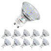 Picture of GU10 LED Light Bulbs,MR16 5W(Replacement for 60W Halogen Spot), 600lm, Cool White, 6000K, 120° Beam Angle, Recessed Lighting, Track Lighting(10Pack Spot Light+6000K) [Energy Class A++]