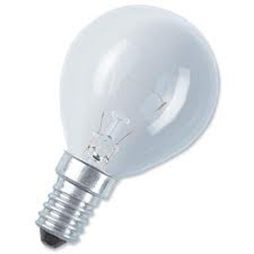 Picture of 40 X 60W SES E14 Small Edison Screw G45 golf ball soft white light bulb
