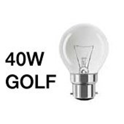 Picture of 20x 40W Clear Golf Ball Bulb (BC Base) 240V
