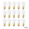 Picture of 15 Pack 11W E27 Clear Light Bulbs, S14 Incandescent Lamps, Warm White, Mains 220V-240V