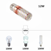 Picture of E27 LED Corn Bulbs 12W, 100W Incandescent Bulbs Equivalent, 6000K Cool White Candelabra e27 SES Bulbs, AC85-265V, Small Edison Screw LED Light Bulbs, 4-Pack [Energy Class A++]