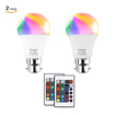 Picture of Dimmable RGB LED Bulb,5W B22 Colored Changed Smart Bulbs with IR Remote Control for Birthday Party, KTV Decoration,Home Use and Bar (2-Pack)