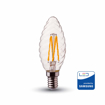 Picture of 4W (35W) Clear Filament Candle Bulb [Twist] with LED E14 Mini ES 2700 Kelvin Warm White Non Dimmable 10 Pack [Energy Class A++]