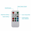 Picture of 3W B22 Disco Ball Light Lamp RGB Rotating LED Strobe Party Bulb Stage Light for Family Party,Birthday,Festival,Room Decoration with Remote Control