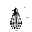 Picture of Ceiling Vintage Retro Birdcage Chandelier Fitting Pendant Lamp Shade (E27 Screw lamp base, JUST Lamp Shade, excluding Light Bulb) [Energy Class A+]